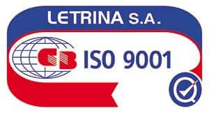 ISO 9001:2015 ΛΕΤΡΙΝΑ Α.Ε.